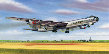 Six Turnin' and Four Burnin' by Mike Machat features the B-36 Peacemaker.