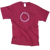 Circular Mantra T-shirt, Cardinal