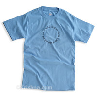 Circular Mantra T-Shirt, Carolina Blue
