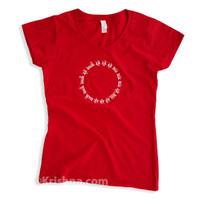 Circular Mantra Ladies' V-Neck T-Shirt, Cherry Red