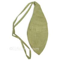 X-Large Khadi Bead Bag, Pocket, Green