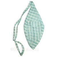 Large Summer Khadi Bead Bag, Pocket, Blue