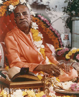 "Srila Prabhupada Photo, With a Cookie, 5""x7"""