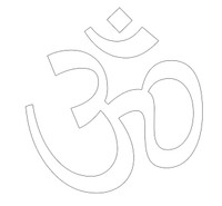 Om Auto Window Decal, White