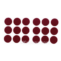 Felt Dot Bindis, Maroon, Large
