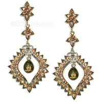 Gandharvika Festival Earrings, Topaz & Silver