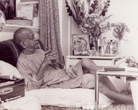 "Srila Prabhupada Sepia Photo, Relaxing, 8""x10"""