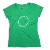 Circular Mantra Ladies' V-Neck T-Shirt, Grass Green