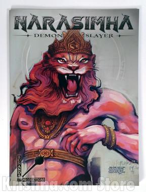 Narasimha - Demon Slayer, graphic novel, front cover.