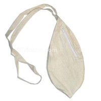 Medium Silk Bead Bag  w/ Zipper, Cream