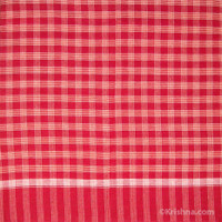 Cotton Bengali Gamcha, Red, White & Orange