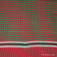 Cotton Bengali Gamcha, Red & Green