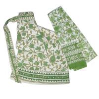 Cotton Wrap-Around Skirt, Green Garden