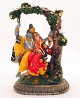 "Radha & Krishna Swing Figurine, 6"""