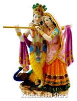 "Radha & Krishna Figurine, 10"""