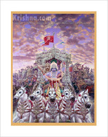 Krishna the Charioteer Poster, Large