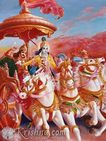"Classic Krishna and Arjuna Photo Print, 8""x10"""