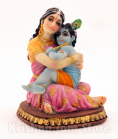Yashoda and Baby Krishna Figurine