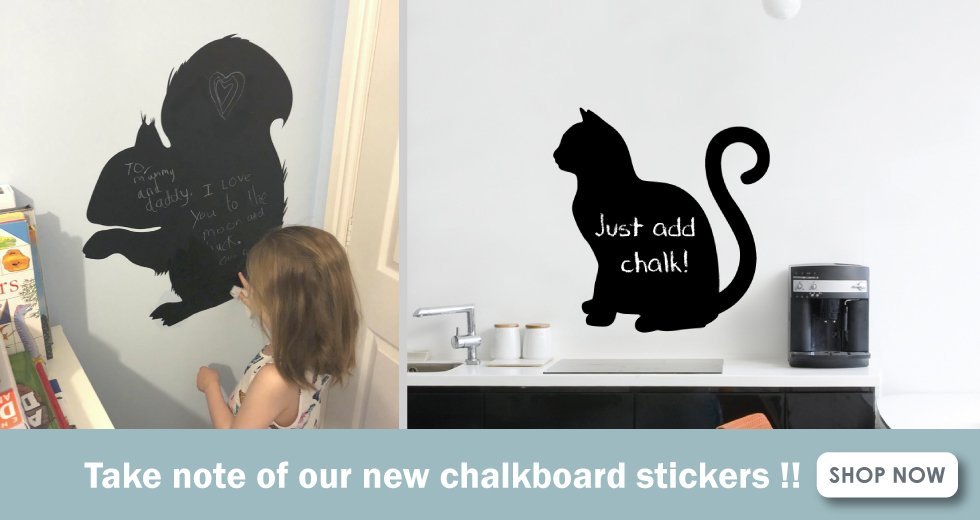 chalkboard wall stickers banner