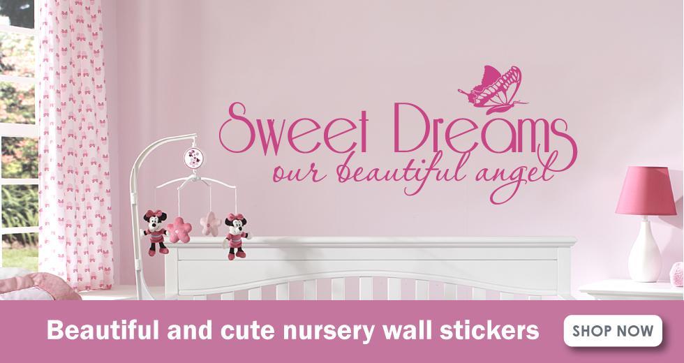 nursery wall stickers banner