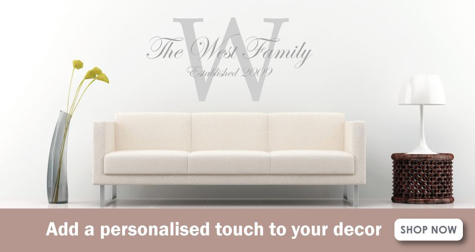 personalised wall stickers banner