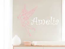 personalised vinyl sticker pink and white