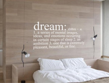 dream definition bedroom wall sticker