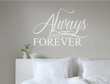 always and forever wall sticker white