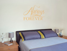always and forever wall decal golden yellow