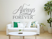 always and forever wall sticker grey