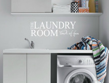 laundry room decal multiple sizes
