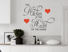 kitchen hearts wall decals quote multiple sizes