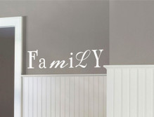 family word wall sticker