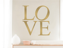 love wall art decal letters gold