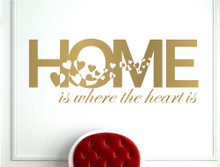 home is where the heart is wall art sticker