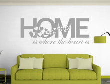 home is where the heart is wall sticker grey multiple sizes