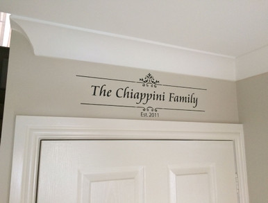 family established wall sticker black multiple sizes