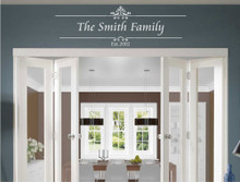 family established wall sticker white