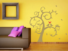 decorative wall sticker tree gold