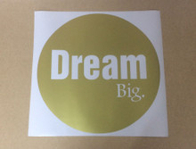 dream big wall sticker gold
