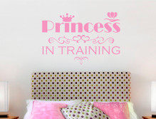 princess wall sticker pink multiple sizes