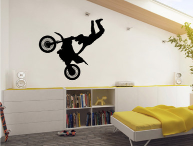 Motorbike Wall Sticker Black Part 68