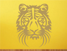 tiger head wall decor sticker