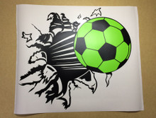 football wall sticker green and black