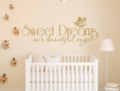 sweet dreams wall sticker gold multiple sizes
