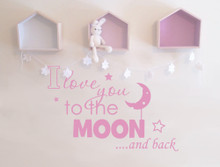 I love you to the moon and back wall sticker