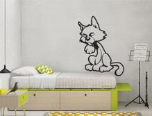 cat wall sticker for kids bedroom
