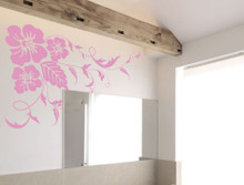 floral wall sticker pink multiple sizes