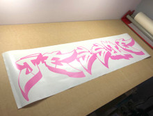 graffiti name wall sticker pink multiple sizes