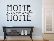 home sweet home wall sticker black